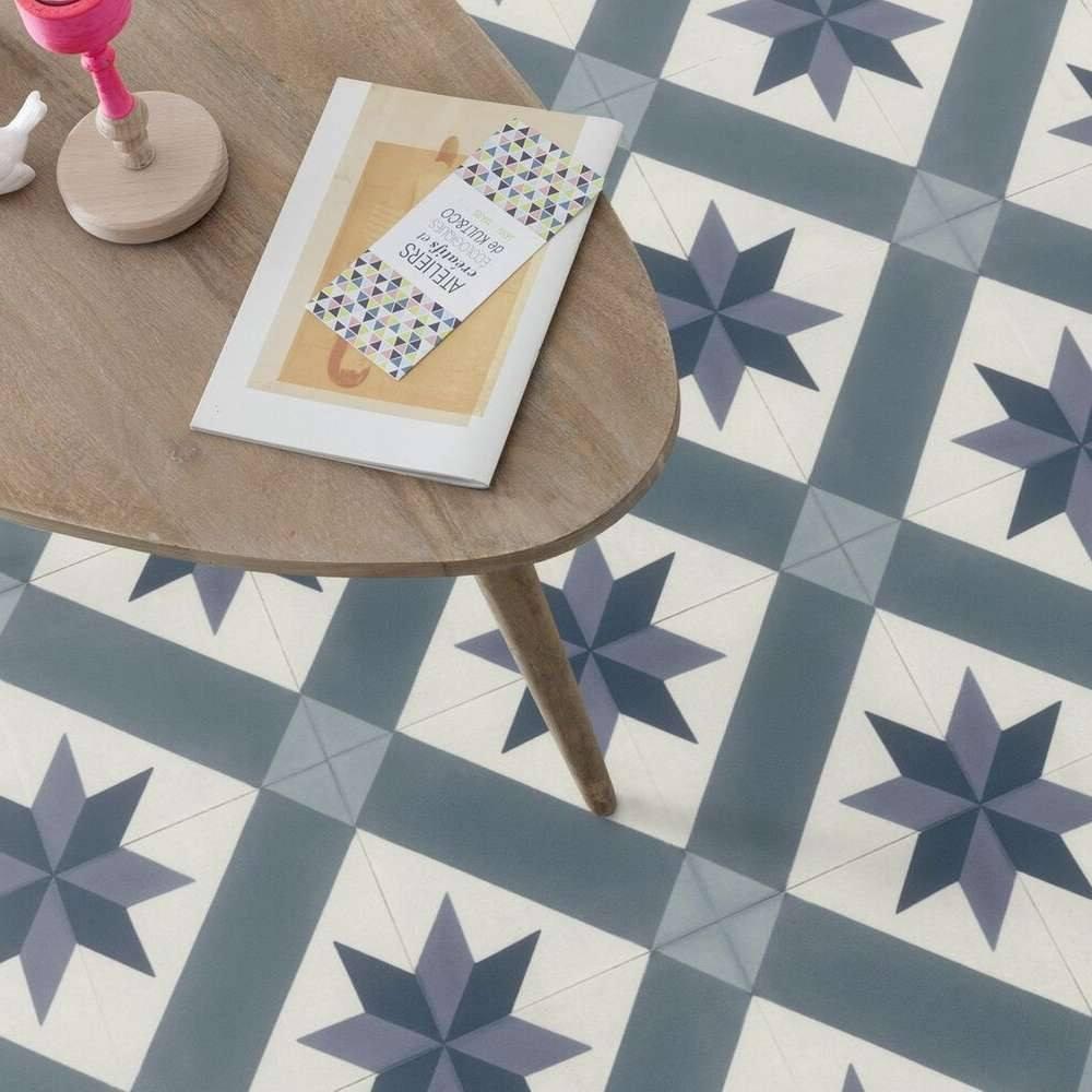 spanish tile design cushioned vinyl in blue andalusia 80 - راهنمای کار با اپلیکیشن