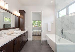 porcelain tile bathroom1 300x208 - بهترین روش برای نصب کاشی های بزرگ (اسلب) در سال 2021